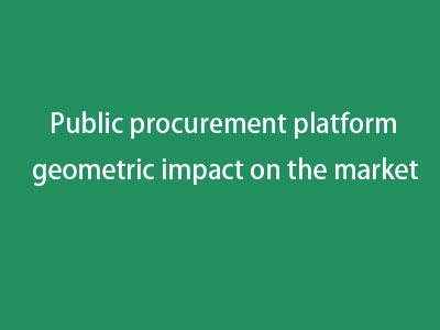 Public procurement platform  geometric impact on the market