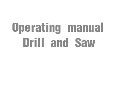 Operating manual (Drill and Saw)
