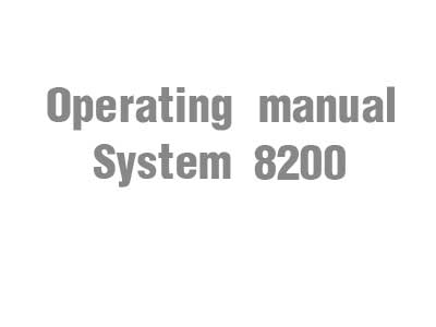 Operating manual (System 8200)